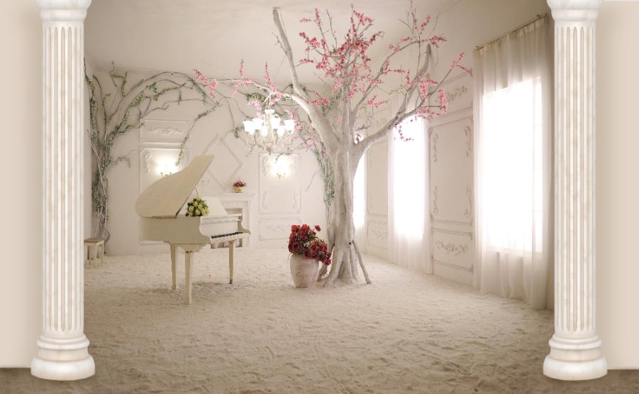 фотообои рояль и дерево многих профессий удовольствием