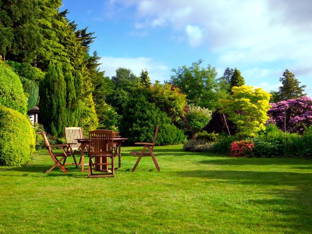 Фотообои Столик, стулья, природа