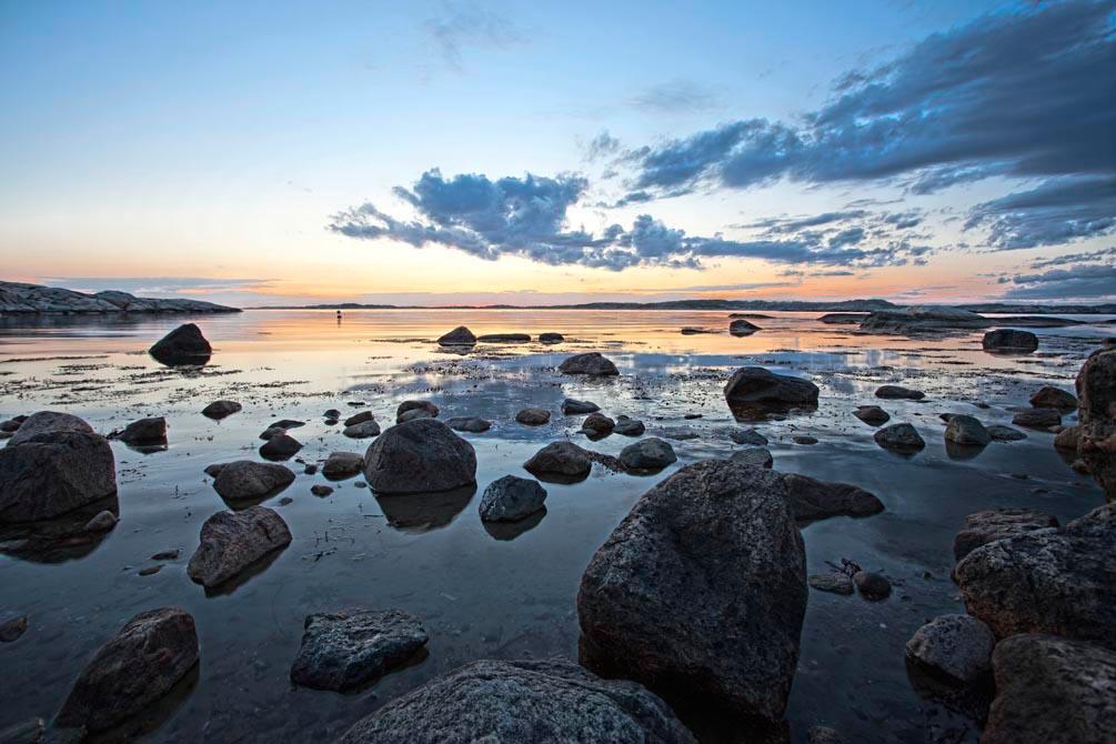 Фотообои Камни, небо, закат