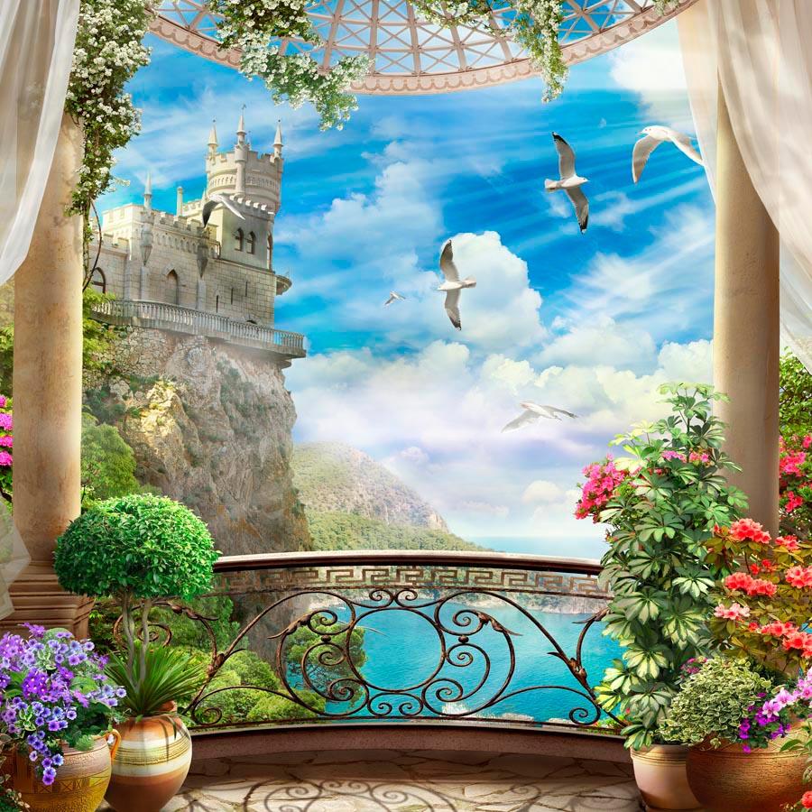 стала одной фотообои окно балкон являются стеновой