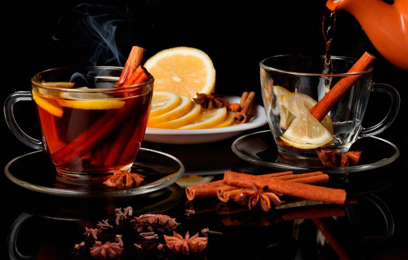 Фотообои в кухню Чай