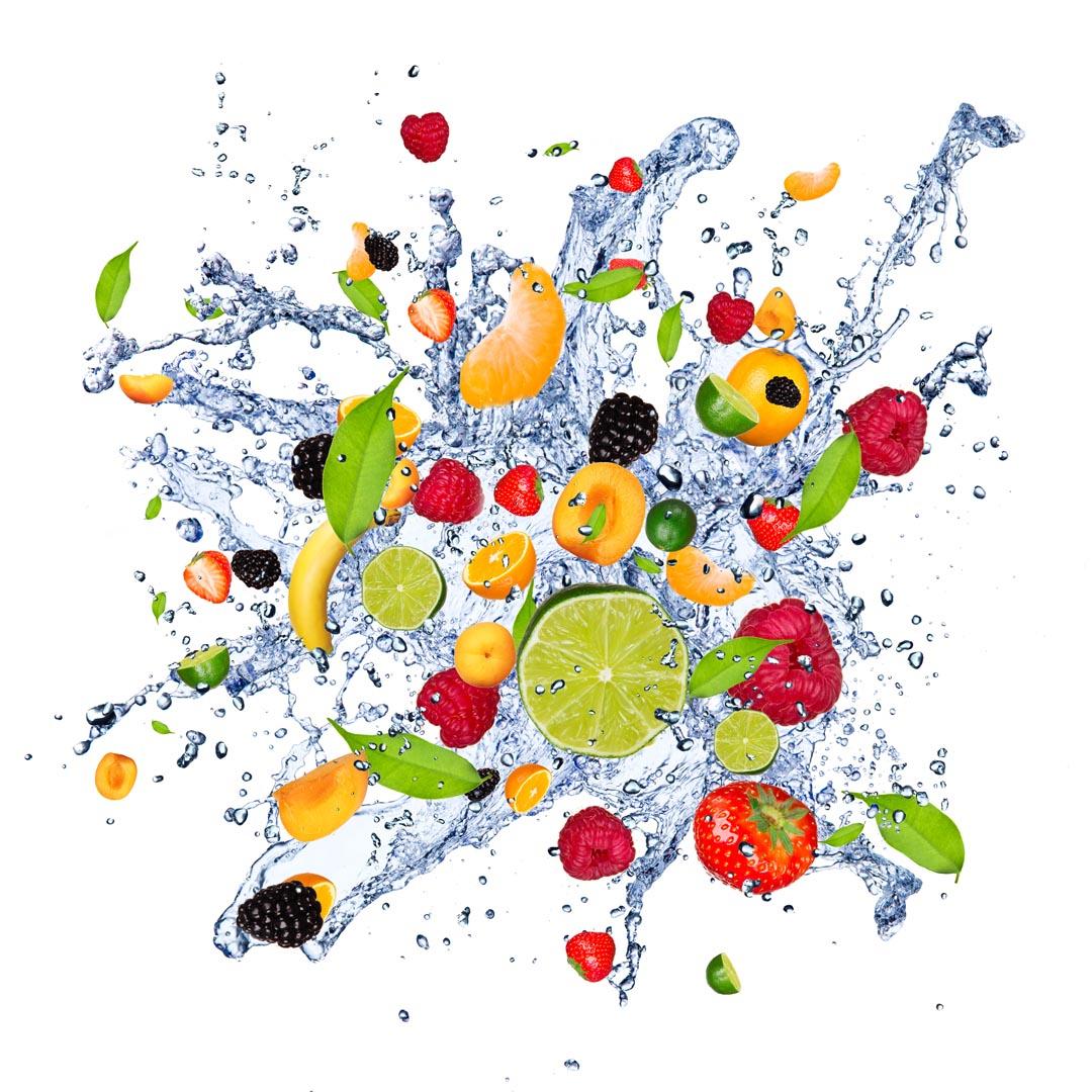 Фотообои фрукты и вода