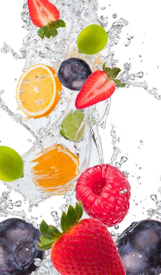 Фотообои фрукты с водой