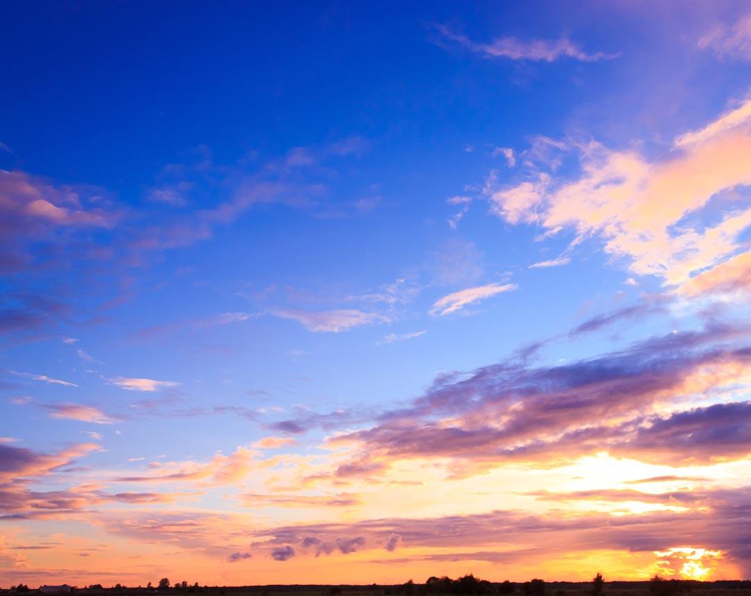 Фотообои красивое вечернее небо