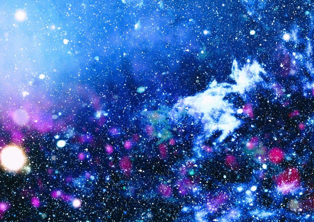 Фотообои голубо-синий космос