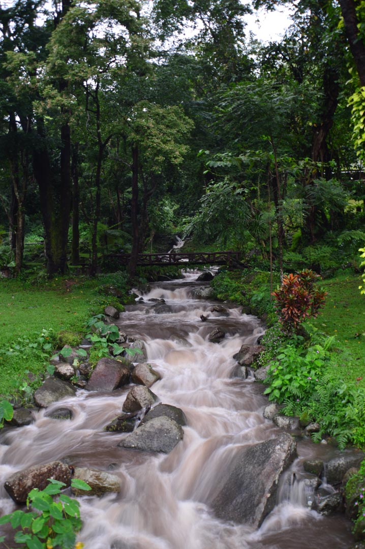 Фотообои серый водопадик на ручье