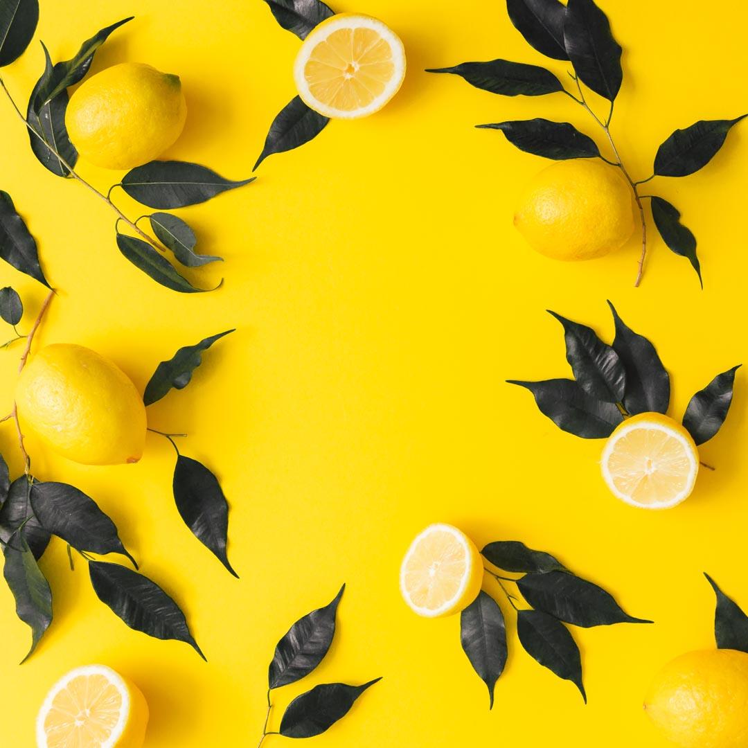Фотообои желтые с лимоном