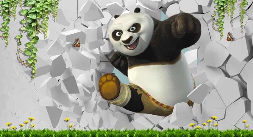 Фотообои Панда детская 3д