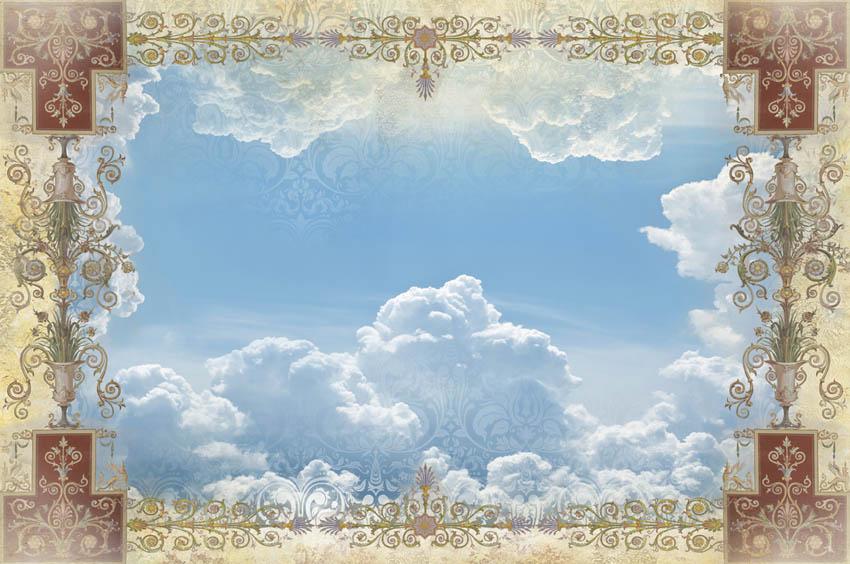 Орнамент и небо для потолка