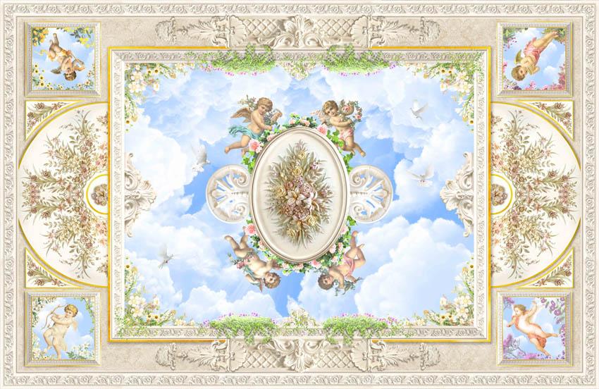 Фотообои фреска для потолка