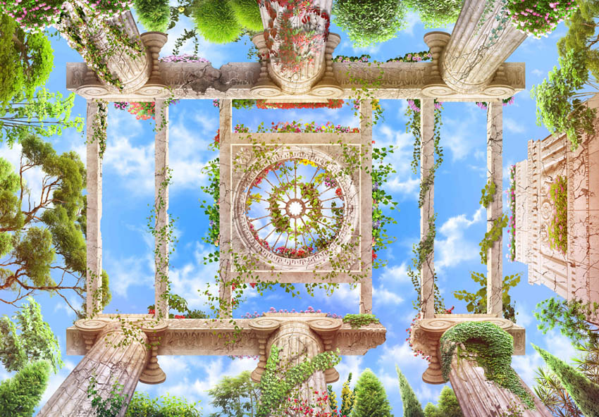 Фотообои Колоннны с видом на небо