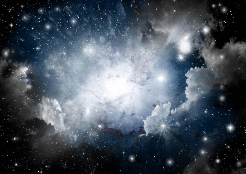 Фотообои Космос для потолка