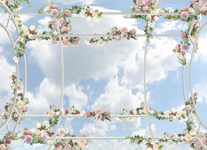 Фотообои Цветочные фотообои для потолка
