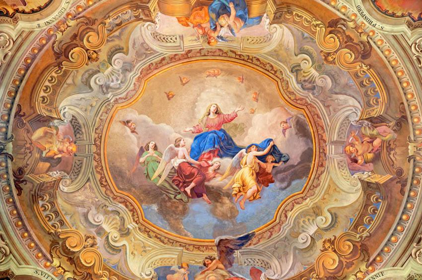 Фотообои Античная фреска на потолок