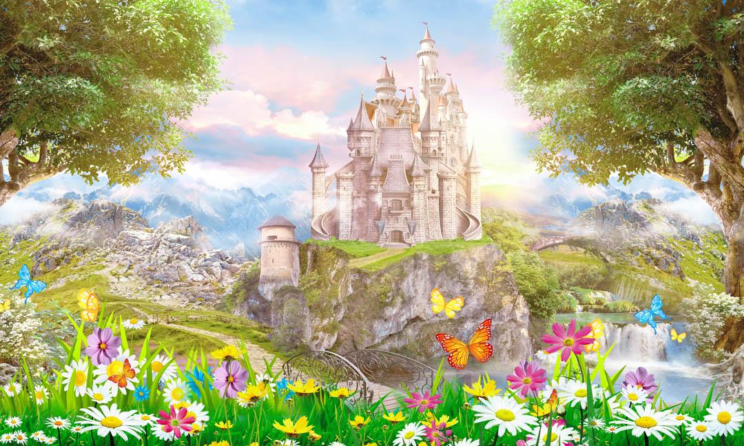 Фотообои Замок на поляне