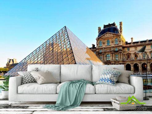 обои Дворцы и соборы Фотообои Лувр ,Франция