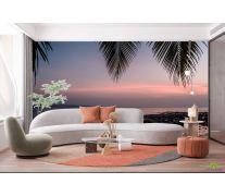 Фотообои закат под пальмой