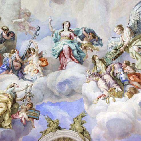 обои на потолок Фотообои Винтажная фреска