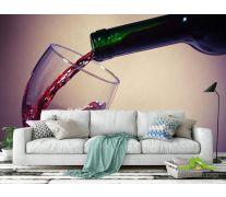 Фотообои красное вино в бокал