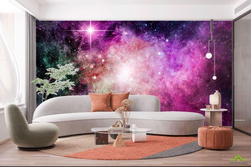 Фотообои Фиолетовая туманность