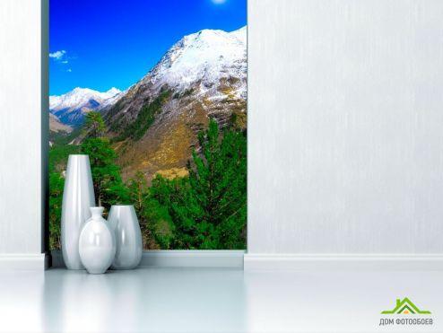 обои Природа Фотообои Месяц, гора, ёль