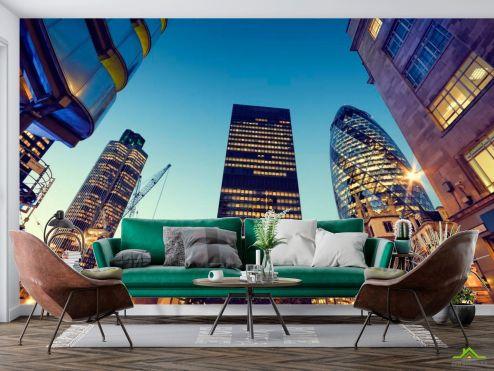 Фотообои Чикаго по выгодной цене Фотообои Высотки, стройка Чикаго