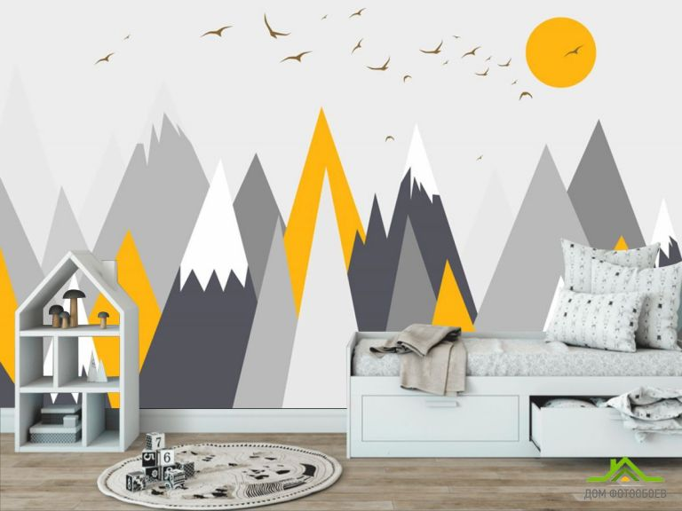 Фотообои Оранжевые горы
