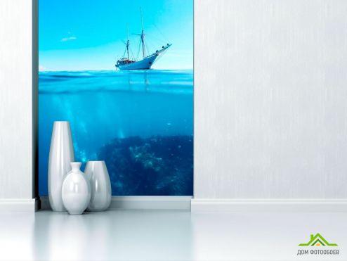Корабли Фотообои Яхта и глубина
