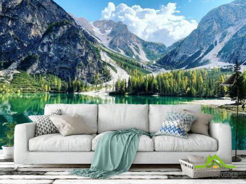 Природа Фотообои Озеро и горы