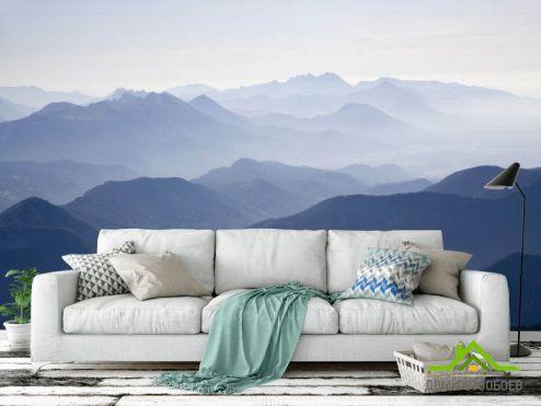 Природа Фотообои Туманные горы купить