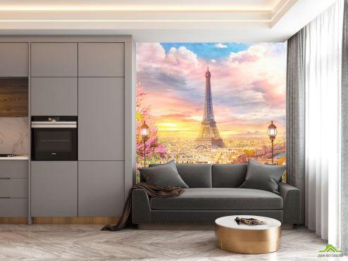 на кухню Фотообои в кухню Париж