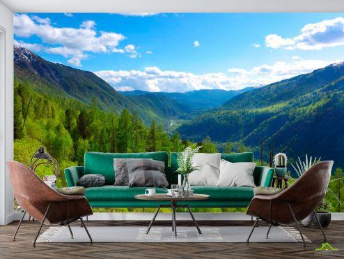 Фотообои Природа по выгодной цене Фотообои Через горы, лес