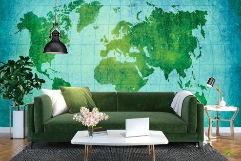 Материковая карта Фотообои Материки Земного шара