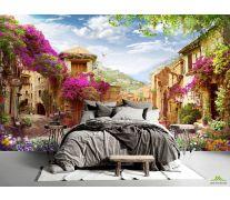 Фотообои Цветочный дворик