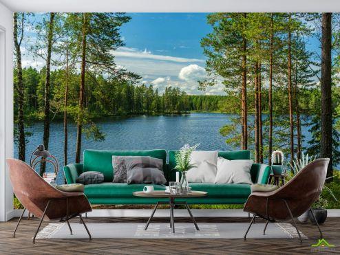 Фотообои Природа по выгодной цене Фотообои Озеро в лесу