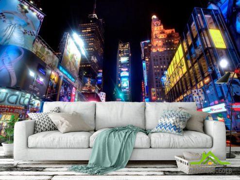 обои Шанхай Фотообои Реклама, ночь, город Шанхай