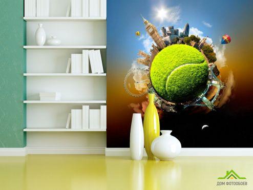 Коричневые обои Фотообои Мировой теннис