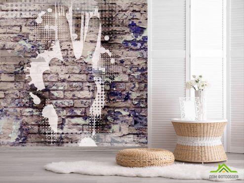 обои лофт Фотообои Графити на кирпичной стене