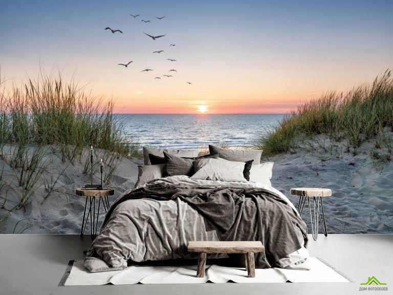 Фотообои Степь на закате