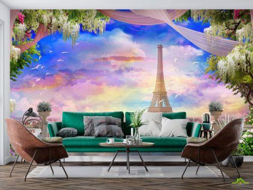 Фрески Фотообои Фреска с Парижем