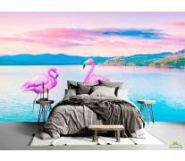 Фотообои Фламинго