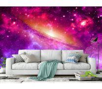 Фотообои Фиолетовое космическое небо