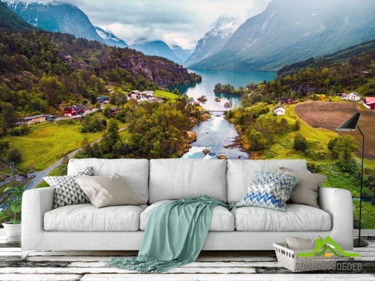 Фотообои пролив между озерами