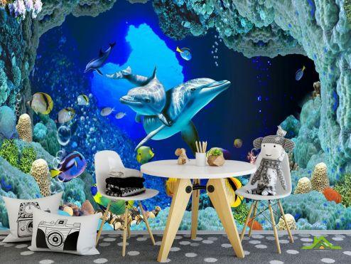 Синие  Фотообои Сказочный подводный мир