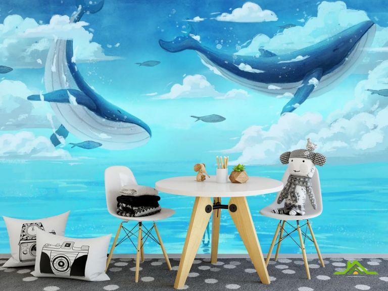 Фотообои Два кита в море