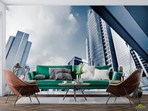 Современный город Фотообои Могучие многоэтажки