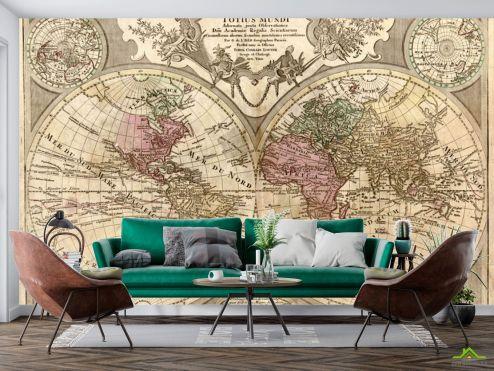 Карта  Фотообои Винтажная карта