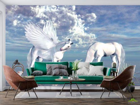 Лошади Фотообои Пегас и Единорог