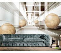 Фотообои Деревянные сферы 3д