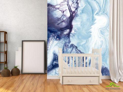Fluid art Фотообои Сине-фиолетовый флюид